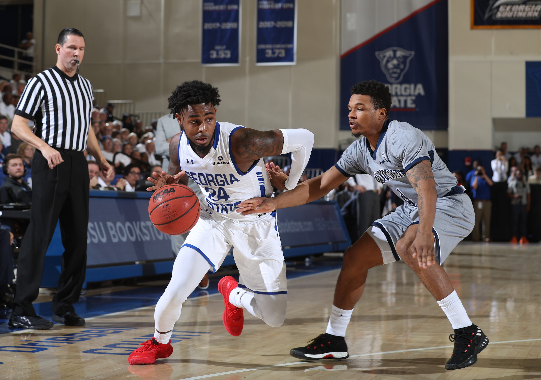 February 2, 2019 - Atlanta, Ga: Georgia State University men's basketball vs Georgia Southern Saturday, February 2, 2019, in Atlanta. (JASON GETZ/ Getz Images)